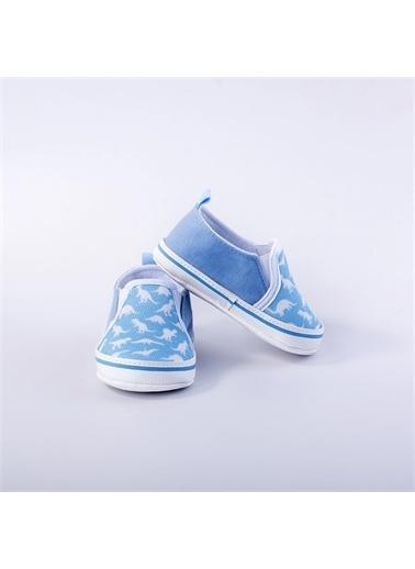 First Step Bebek Turuncu Ayakkabı Mavi